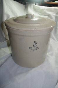 Vintage Pacific Stoneware Crock Pottery 2 Gallon With Lid California