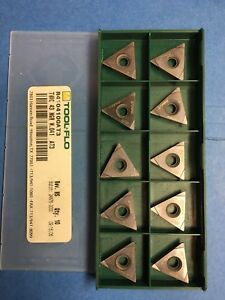 Tool Flo Tnmc 43 Ngr W 041 Carbide Threading Insert 10 Pieces l44