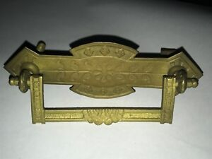 Antique Victorian Eastlake Bronze Gold Dresser Drawer Pull Hardware