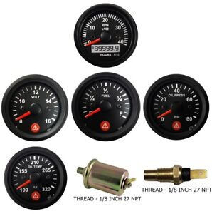 4k Tachometer Alt Oil Pressure Temperature Volt Fuel Temp