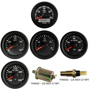 4k Tachometer Mag Oil Pressure Temperature Volt Fuel Temp