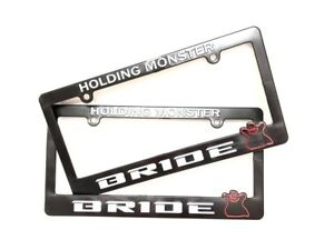 X2 Jdm Bride Holding Monster Abs Black Racing License Plate Frame Civic Accord