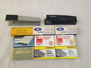 Swingline And Bates 550 Stapler Bundle With Staples Usa Fast Ship Ace Bostitch