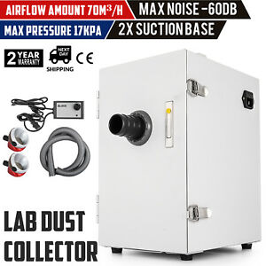 Portable Dental Digital Dust Collector Vacuum Cleaner Lab Equipment 1200w Gift