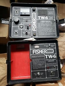 Fisher Two Box Tw 6 Professional Pipe Cable Split Box Locator