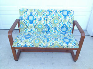 Mid Century Modern Bent Wood 2 Cushion Settee Local Pick Up Only