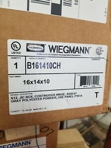 Wiegmann Steel Enclosure Box B161410ch 16 X 14 X 10 Nema 12 13 56