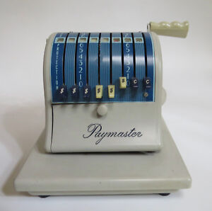 Paymaster Series S 1000 Check Writer Embosser Stamper Machine With Key