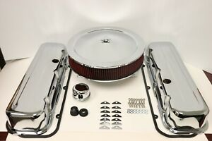 Bbc Chrome Engine Dress Up Kit Tall Valve Covers Washable Air Cleaner 65 90 454