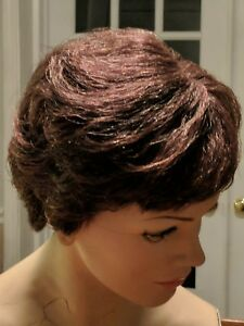 Vintage Department Store Brown Short Hair Mannequin Wig