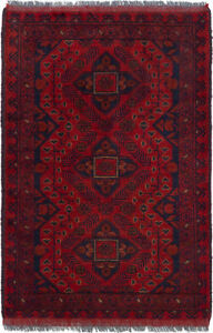 Hand Knotted Carpet 2 5 X 3 8 Traditional Vintage Wool Rug