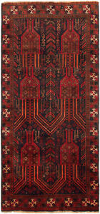 Hand Knotted Carpet 3 3 X 7 2 Traditional Vintage Wool Rug