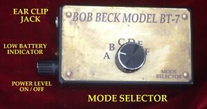 Bob Beck Bt 7 Electro therapy Beck Box 6 Mode Device One Year Warranty