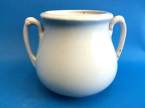 Antique Old Royal Ironstone China Alfred Meakin England White Sugar Bowl Jar