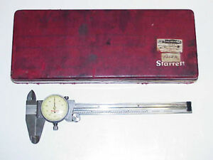 Starrett 120 Calipers In out depth Gauge 1 1 2 Dial Tool Lathe Mill Machinist