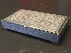 Antique Persian Sterling Silver 84 Cigar Jewelry Box 389 Grams