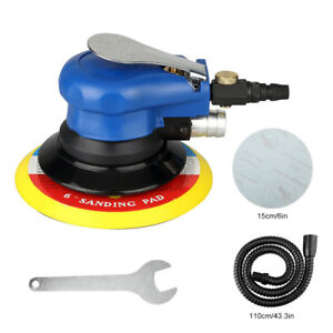 6 Air Random Orbital Palm Sander Auto Body Orbit Da Sanding Low Vibration New