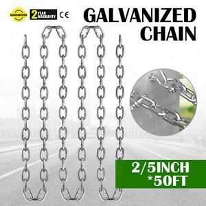 Grade 30 Chain Zinc Plated 2 5 50ft 18700kg 41400lb Towing Logging