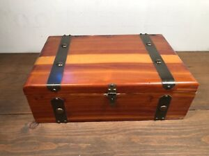 Peterson Brothers Ceder Wooden Chest Detailed Metal Work