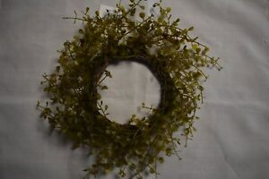 New Primitive Farmhouse Country Baby Grass Wreath Candle Ring Home Decor