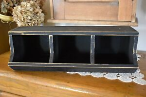 New Primitive Country Black Country Store Bin Home Decor