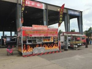8 X 18 Turnkey Business Concession Trailer Mobile Kitchen For Sale In Texas
