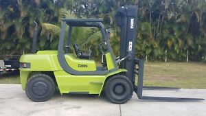 Clark Forklift 15000 Lbs Diesel Pneumatic Tires Only 2300 Hrs