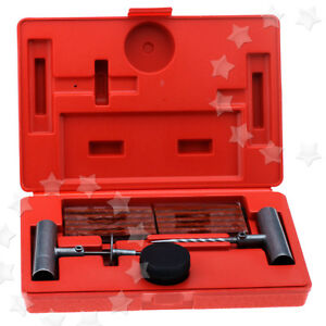 35pcs Tubeless Tyre Repair Set Hand Tools Car Wheel Hole Tires Puncture W Case
