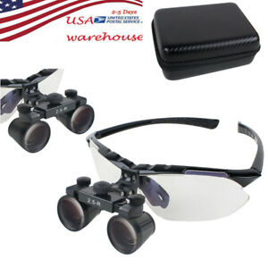 7 In1 Dental Surgical Medical Binocular Loupes 2 5x 360 580 Optical Glass Loupe