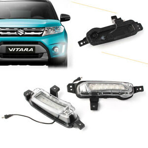 Pair Car Fog Lamp Led Daytime Running Light For 2015 up Suzuki Vitara White Drl