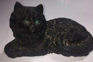 Cat Cast Iron Aluminum Door Stop Paper Weight 2 Lbs 6 Ounces Hallow Look