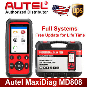 Autel Md808 Eobd Obd2 Auto Diagnostic Tool 4 System Scanner Reader Abs Srs Epb