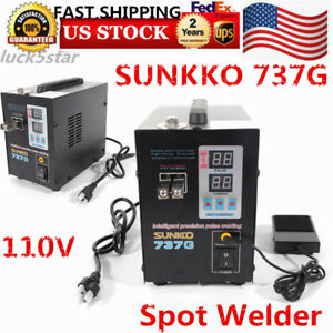 110v Hand Held Sunkko 737g Battery Spot Welder With Pulse Current Display Usa