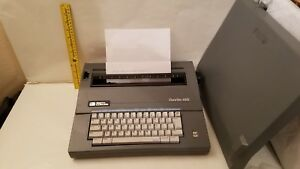 Smith Corona Deville 450 Portable Electric Typewriter With Case Nm