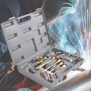 Gas Welding Cutting Kit Equipment Tools Torch Set Portable Heating Brazing Case