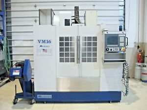 Milltronics Vm 16 Cnc Vertical Machining Center Mill Coolant Thru Chip Conveyor