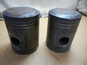 John Deere Styled B Pistons 4 500 Standard Set Of 2 Cast Iron Styled Late Jd