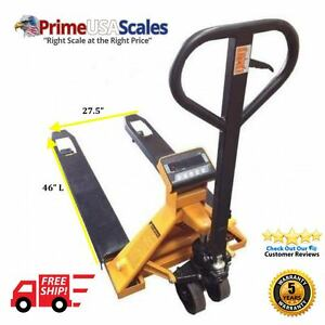 5 Year Warranty Pallet Jack With Built In Scale 2 500 Lb X 5 Lb