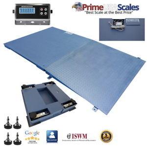 Optima 10 000 Lb X 1 Lb 4 x5 48 X 60 Floor Scale Pallet Scale With Ramp