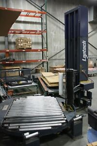 Lantech Automatic Stretch Wrapper Two Pallet Conveyor System