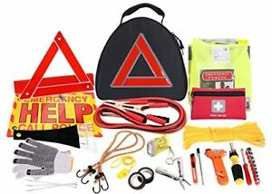 Car Emergency Set Roadside Assistance First Aid Kit Reflective Safety Triangle