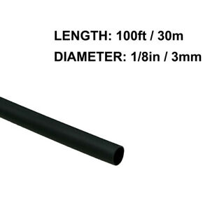 1 8in 3mm Diameter Heat Shrink Tubing Shrinkable Tube 100ft Black