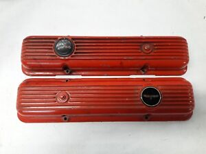 Chevy Sb Lt1 Z28 Aluminum Finned Valve Covers Corvette Camaro Original J15261