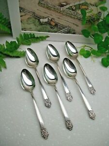 6 International Silver Rogers Deluxe Precious Silverplate Teaspoons 1941