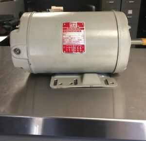 5 Hp Electric Motor 208 230 460 V 3320 Rpm Weg New Old Inventory Free Shipping