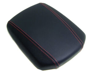 Fit 10 13 Hyundai Genesis Coupe W Red Stitch Vinyl Center Console Armrest Cover