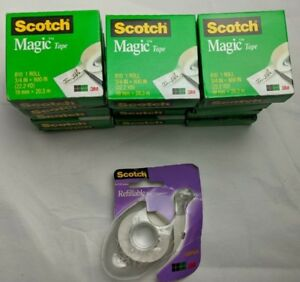 Scotch 810 Magic Tape 15 Rolls 3 4 X 800 1000 Inches Plus Bonus Dispenser
