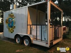 2014 8 X 16 Food Concession Trailer With Porch For Sale In Mississippi