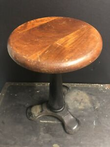 Vintage Singer Machinist Heavy Weight Stool Industrial