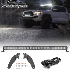 Fit Toyota Tacoma 4runner 42 240w Curved Led Light Bar Roof Mount Bracket Wire
